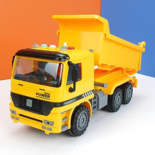 QHYZRV Friction Dump Truck Sound and Light Story Model Car Simulación Control Remoto Car Truck Transport Truck Dump Truck Truck Excavator Hobby Toy Car Engineering Truck Regalos para niños y niñas