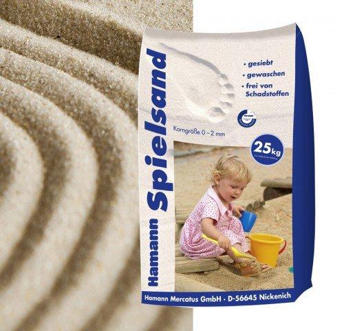 Hamann Spielsand Classic 25 kg Sack - Qualitäts Quarzsand - gesiebt - frei von Schadstoffen - gewaschen