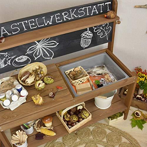 Meppi Matschküche Kleiner Gärtner, braun aus Holz, Outdoor-Küche - 6