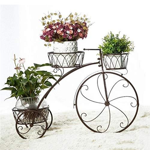 Lindo triciclo, flor, cesta de flores, florero, almacenamiento, 3 niveles, metal adornado, triciclo, plantador, soporte, jardín, bicicleta, ornamento, estante, decoración del partido, boda, decoración