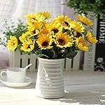 Iulove Fake Silk Artificial 14 Heads Sunflower Flower Bouquet Floral Garden Home Decor
