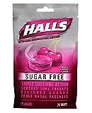 Halls Sugar Free Black Cherry Menthol Drops, 25 Drops Per Bag (8 Pack)