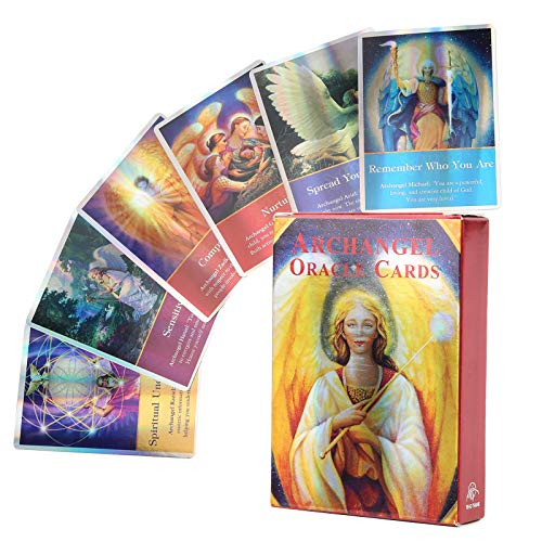 RBSD 45 Tarotkarten, Klassische Tarotkarten Deck Mini Hologramm Papier Englisch Wahrsagerkarten Waite Future Telling Kartenspiel mit bunter Box für Partyreisen(1#)