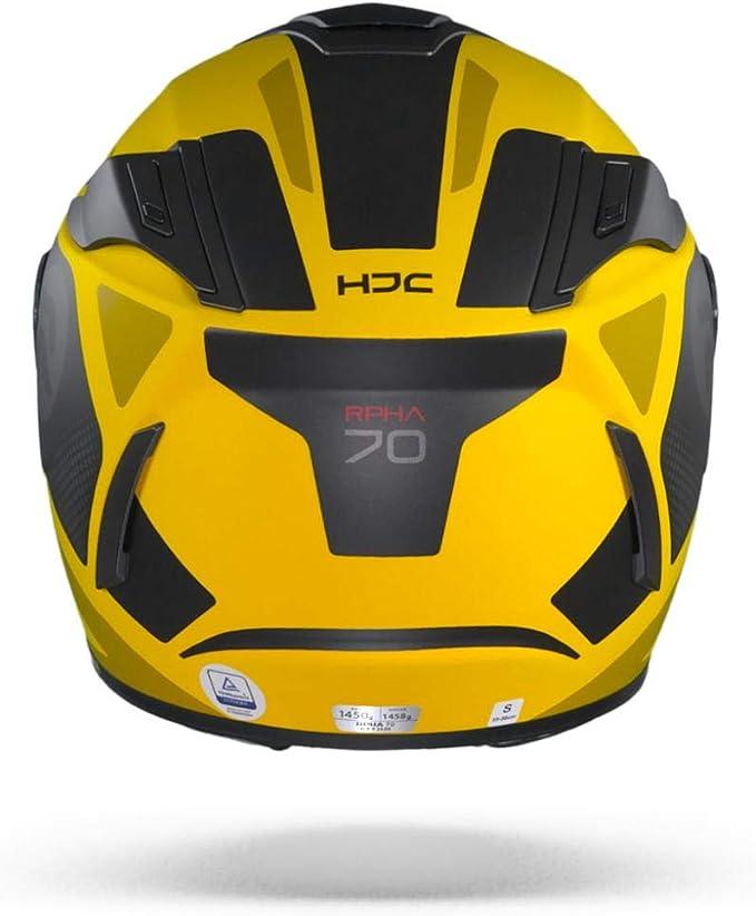 Hjc Helmets Herren Nc Motorrad Helm Schwarz Gelb M Auto