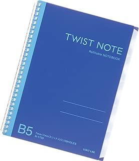 Lihit Lab., Inc. twist note indexed semi B5 29 hole blue N1735-8
