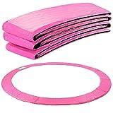 Arebos Trampolin Randabdeckung Federschutz | 183, 244, 305, 366, 396, 457 oder 487 cm | aus PVC und PE | Reißfest | 100% UV-beständig | Pink (pink, 427 cm)