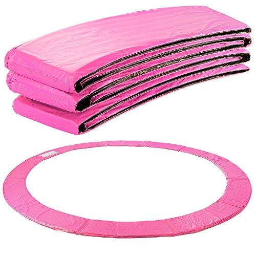 Arebos Trampolin Randabdeckung Federschutz   183, 244, 305, 366, 396, 457 oder 487 cm   aus PVC und PE   Reißfest   100{c2911a852005e4457e52a43d289a9cea4ae332b6906acf31218c2e13ee75e022} UV-beständig   Pink (pink, 427 cm)