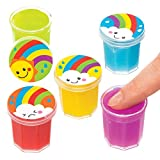 Botes de Slime de Arcoíris Baker Ross AT982 (paquete de 10) para bolsos de fiesta...