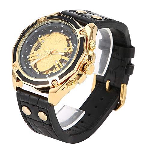 Reloj de pulsera para hombre, uso amplio, máxima durabilidad, movimiento de viento automático con correa de poliuretano para empresas