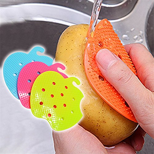 1 Pcs Vegetable Brush Vegetable Brush Multi-functional Fruit Vegetable Brush Kitchen Tools Easy Cleaning Brush For Potato Kitchen Home Gadgets cooking tool by Generic