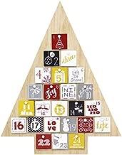 JOYIN Natural Wooden Tree Shape Advent Calendar 24 Days Countdown to Christmas Advent Calendar with Storage Drawers Holiday Calendar Home Decor