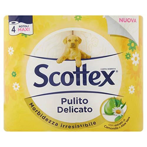Scottex reinigingspapier hygiënisch, 4 rollen Maxi