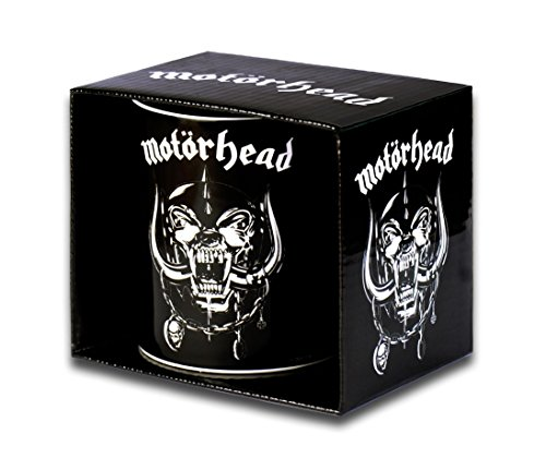 Motörhead Kaffeebecher - Motörhead Kaffeetasse - Motörhead Tasse - Motörhead Becher - In stabiler Kartonverpackung - schwarz
