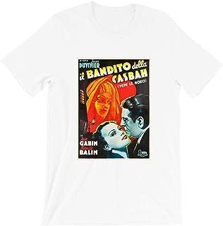 Pepe le Moko Jean Gabin Mireille Balin Line Noro Film Noir Retro Movie Graphic Gift for Men Women Girls Unisex T-Shirt