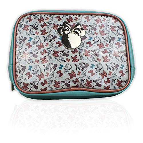 Disney Minnie Mouse Blue and Pink Cosmetic Make Up Toiletry Wash Bag