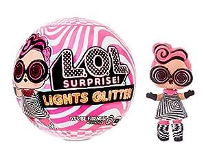 L.O.L. Surprise! Lights Glitter Doll with 8 Surprises Including Black Light Surprises