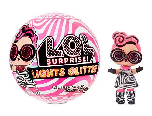 LOL Surprise Sammelbare Modepuppen - Mit 8 Überraschungen, Moden und Accessoires - Inklusive Schwarzlicht-Enthüllungen - Lichter-Glitzer-Puppe
