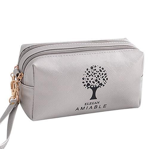 Trousse de voyage à paillettes pour femmes, tendance, pochette de maquillage multifonction,Sac cosmétique portatif de mini sac carré portable 20 * 9 * 10cm, 2