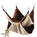 Winnfy Sac de couchage double couche pour écureuil Jaune
