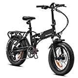 EAHORA Ebike 20 in Electric Bike 750W X7 Plus Folding Ebike for Adults 48V Lithium Battery, Great Hydraulic Brakes and Full Suspension with Electric Lock, Power Regeneration System and Cruise Control