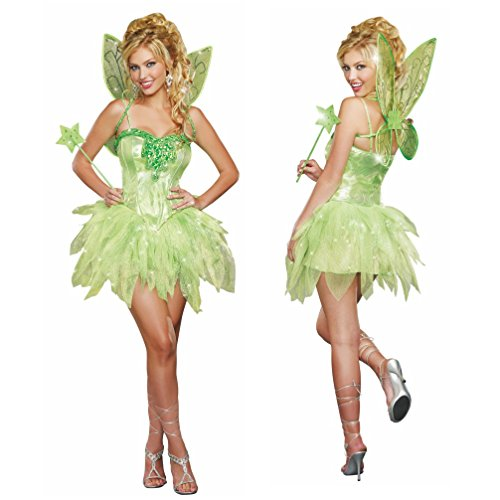 Kostüm grüne Fee Damen Kleid Märchen Feenkostüm Elfe Fasching  Gr. (M)