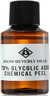 ASDM Beverly Hills Glycolic Acid Peel 70% 1Oz 30ml Medical Strength Treatment, Reduce Acne Pores, Scars, Breakouts, Sunspots, Wrinkles, Discoloration, Increase Collagen, Anti-Aging, AHA Chemical Peels