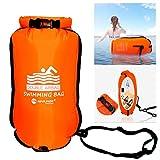NEWMAN771Her - Bomba de aire eléctrica, doble airbag, bolsa de natación hinchable, flotador, anillo salvavidas, impermeable, de PVC