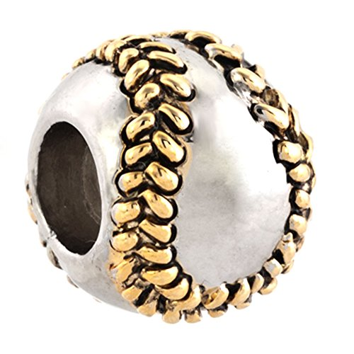 SexyMandala l Love Baseball Softball Sports Bead for Charms Bracelets