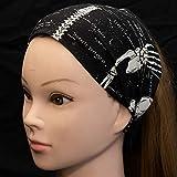 Glow in the Dark Skeleton ~ Headband ~ Timeless Treasures 100% Cotton