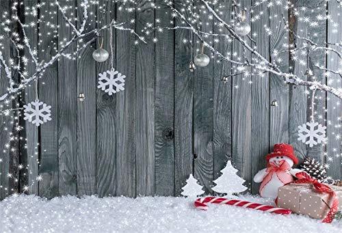 Cassisy 3x2m Vinilo Navidad Telon de Fondo Telón de Fondo de Madera de Navidad Fondo de Escena de Nieve de Invierno Fondos para Fotografia Party Infantil Photo Studio Props Photo Booth