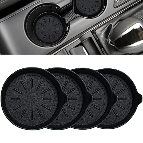 LEORAY Car Cup Holder Coasters Silicone Cup Holder Coasters for Car Pack of 4