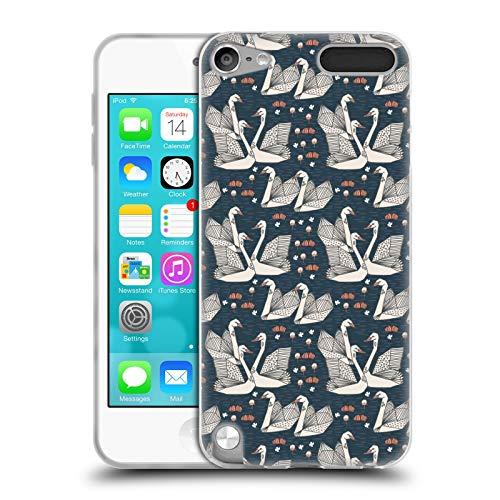 Officiel Andrea Lauren Design Swans Oiseaux Coque en Gel Doux Compatible avec Apple iPod Touch 5G 5th Gen