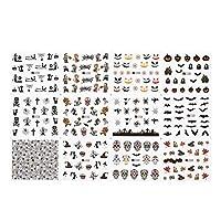 RCDD ネイルズポップ漫画のパターンスライダー用の釘接着剤DIYマニキュアのヒントネイルアートステッカーマニキュア装飾のための3Dネイルステッカー (色 : 24 pcs Type 8)