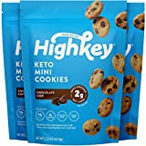 HighKey Snacks Keto Food Low Carb Snack Cookies, Chocolate Chip, 3 Pack - Gluten Free & No Sugar Added, Healthy Diabetic, Paleo, Atkins Dessert Sweets, Natural Ingredient Product (Packaging May Vary)