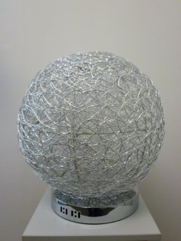 Drahtkugelleuchte Tischleuchte Alissa 40cm Alu Draht Aluminium Kugelleuchte Dekoleuchte Dekolampe
