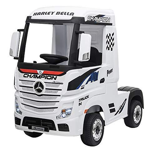 Devessport - Camión eléctrico para niños con Mando de Control Remoto -...