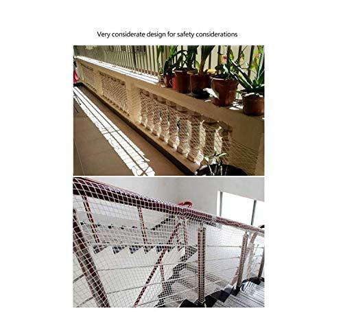 ZGQSW Kinder Treppen Sicherheitsnetz, Nylon Seilisolationsnetz, for Balkon-Schwimmbecken, Anti-Fall-Netz, Bettzaunnetz, Einschließlich Kabelbinder, Weiß, 1x9 M (Size : 2 * 3M(7 * 10ft))