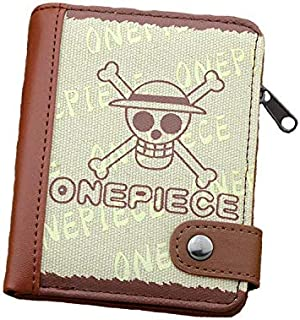 The ghost of the scalp to fight Canvas Wallet One Piece Cartoon burse animation notecase vertical purse