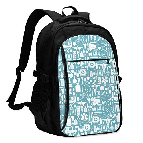 XCNGG Silhouette Travel Laptop Backpack with USB Charging Port Multifunction Work School Bag