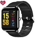 OUKITEL W2 Fitness Smart Watch, Bluetooth Smart Watch Wristwatch with Pedometer Analysis Sleep Monitoring Heart Rate Monitor Tracker and Pedometer Call Notification Etc