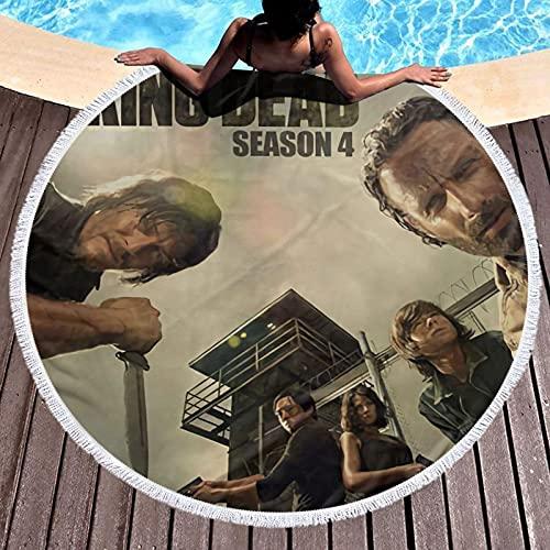 The Wa-lking Dead Toalla de baño de playa redonda de microfibra extra grande para natación, spa, viajes, yoga, deportes, camping, tumbonas o ducha