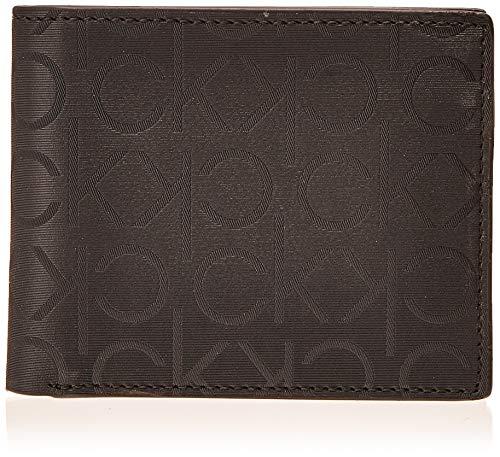 Calvin Klein Herren Bifold Wallet with Embossed Logo Zweifalten-Geldbörse, schwarz, Einheitsgröße
