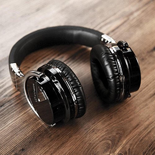 COWIN Cowin E-7 Wireless Bluetooth Over-Ear Stereo Headphones with Microphone and Volume Control, Black