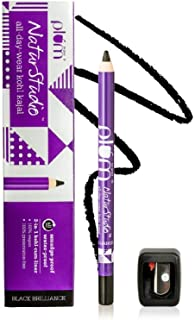 Plum NaturStudio All-Day-Wear Kohl Kajal Black Brilliance with FREE SHARPENER | Smudge-Proof| Water-Proof | 2-in-1 Eyeline...