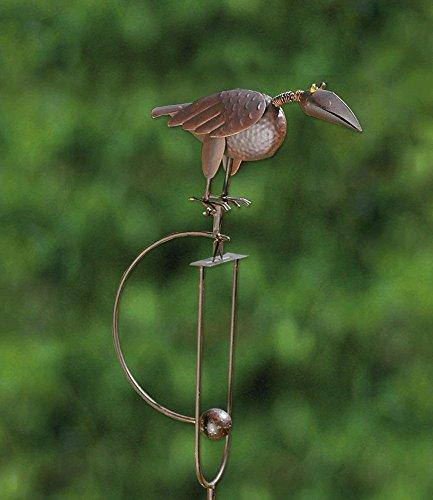 Pendel-Beetstab Henne 'Trude' Gartenstab, Gartenstecker mit Tierfigur aus Metall