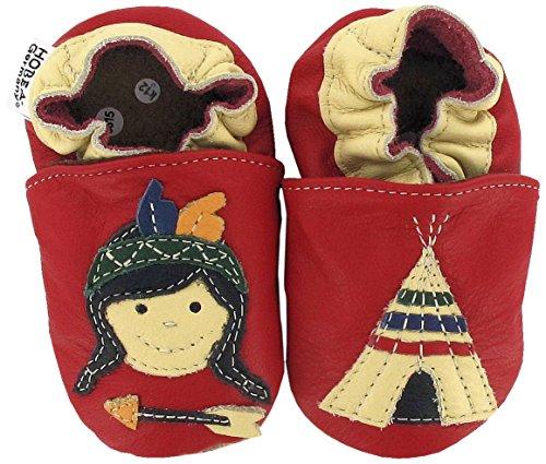 Lauflernschuhe Indianer von HOBEA-Germany, Größe Schuhe:26/27 (30-36 Mon)