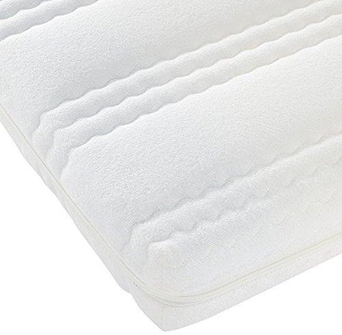 Best For Kids Kinderbett-Matratze Kesja 70 x 140 x 10 cm, sehr Gute Qualität TÜV Gesteppte und Weiche Kindermatratze aus Frottee besonders für Winter MAT-FR140