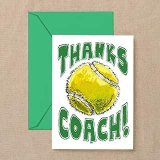 tennis coach thank you card