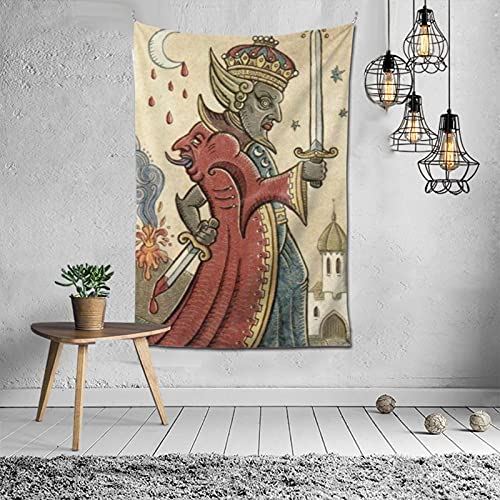 Tapestry Tarot Trionfi Hjella Luna Tarot Hanging Curtain Wall Hanging Curtain Bedroom Living Room Kitchen Home Decoration Tapestry 60*40inch 100x150cm