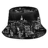 ONLED Sombrero de cubo plegable reversible en blanco y negro con estampado de cielo nocturno de...